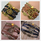 Popular Fashion Harry Potter Style Deathly Hallows Golden Snitch Owl Bracelets