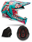 Bell Adult Blue/Pink/White Moto-9 Tagger Trouble Snowmobile Helmet Snocross Snow
