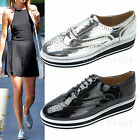 AnnaKastle Womens Wingtip Oxford Contrasted Platform Creepers Shoes US 5 6 7 8