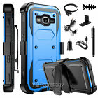 Refined Armor Cover Phone Case & Swivel Holster For Samsung Galaxy J3V +Bundle