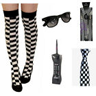 NEW ADULT POLICE FANCY DRESS MADNESS CHEQUERED BRACES TIE PHONE GLASSES SOCKS