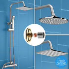 MODERN BATHROOM ROUND OR SQUARE THERMOSTATIC CHROME TWIN HEAD SHOWER MIXER SET
