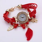 Women's Fashion Watch Inlaid Braid Bracelet Watch Feather Wristwatch Sanwood