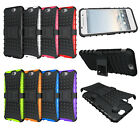 Rugged Dual Layer Hybrid Armor Kickstand Protector Case for HTC One A9 / Aero
