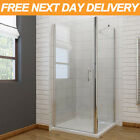 Frameless Shower Enclosure Hinge Glass Cubicle Door FREE NEXTDAY DELIVERY