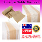 Hessian Lace Runner Burlap Roll Vintage Rustic Natural Wedding Table Party Sash