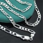 1pc Fashion Women Men Silver Chain Italy Figaro Necklace 16-30 inch 2mm Jewelry