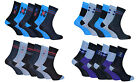 Soxinnabox - 6 Pack Mens Gift Boxed Soft Colorful Patterned Over Calf Crew Socks