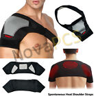 Black Shoulder Brace Support Strap Wrap Belt Dislocation Neoprene Pain Band New