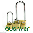 2× Solid Brass Lock Padlock Luggage Travel Drawer Anti-Theft Security Anti-Rust