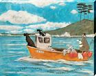 Sam Toft Dogger Fisher Light Vessel Automatic Canvas Print 40x50x3.8cm