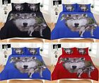 New 3D Wolf Animal Effect Printed Bedding Set Duvet/Quilt Cover Set Pillowcases