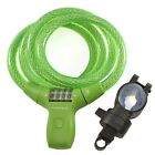 Lumintrail LED Resettable Combination Cable Bike Lock With Mounting Bracket