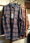 Mens Long Sleeve Plaid Flannel Shirt L TALL, XL TALL, 2XL TALL NWT