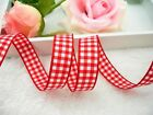 "2016 hot sale 25yards 3/8""10mm 5/8""16mm Classic Check Gingham Ribbon gift decor"