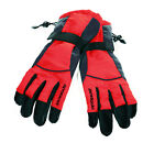 MENS SKI SKIING SNOWBOARD GLOVES WARM WINTER GRIPPER PALM GREY RED YELLOW NEW