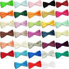DQT Mens Pre-Tied Bow Tie High Quality Plain Solid Wedding Tuxedo Grooms Necktie