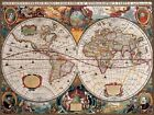 Antique World Map Giant Wall Mural 315x232cm
