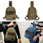 Men's Canvas Small Mini Travel Hiking Backpack Women's Sling Chest Bag Purse