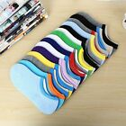 10 Pairs Casual Sport Women Men Cotton Boat NonSlip Invisible Low Cut Socks #122