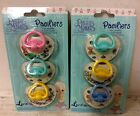 New Baby Pacifiers Boy or Girl Precious Moments Pink Blue Yellow Ortho Nipples
