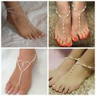 simulated pearl Barefoot Sandal Beach Toe Ring Fashion Foot Anklets