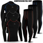 Mens Compression Winter Thermal Base Layer Tights Shirt Pant Under Full Suit