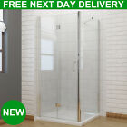 Frameless Bifold Shower Enclosure and Tray 6mm Cubicle Hinge Glass Door