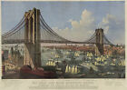 Currier and Ives Vintage Reproduction Giclee Print/Poster #8 Brooklyn Bridge