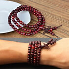Fashion 108 Sandalwood Buddhist Meditation Prayer Bead Mala Bracelet Necklace