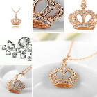 Trendy Women Crown Pendant Chain Necklace Wedding Party Bridal Jewelry New