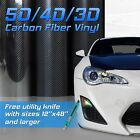3D 4D 5D Matte or Gloss Black Carbon Fiber Vinyl Wrap Bubble Free Custom Cuts