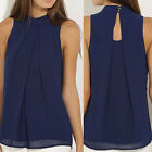 New Women's Blouse Casual Sleevess Chiffon Blouse T-shirt Summer Tank Tops SE