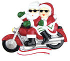 PERSONALIZED CHRISTMAS ORNAMENT COUPLES-MOTORCYCLE MR. & MRS. CLAUS