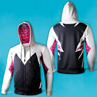 Spider-Man Spider-Woman Gwen Stacy Superhero Unisex Cosplay Cotton Zip up Hoodie