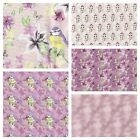 PATCHWORK/ CRAFT FABRIC FAT QTR WATERCOLOUR FLORAL - PINK