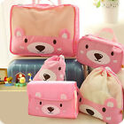 5pcs Waterproof Luggage Clothes Cosmetic Pouch Storage Travel Organizer Bag