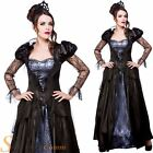 Ladies Wicked Queen Costume Fairytale Halloween Fancy Dress Womens Outfit