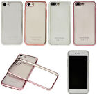 Clear Ultrathin Plating Edge TPU Soft Case Cover for Apple iPhone 7/7 Plus