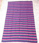 FAIR TRADE MOROCCAN BOHO SABRA SILK RAINBOW THROW BLANKET HAND MADE IN MOROCCO