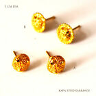 22 ct Gold Plated Earrings Indian Ethnic Jewellry Hoop Creole EarringE12