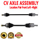 Front CV Joint Axle Shaft Pair Set For ACURA EL 2001-2005,HONDA CIVIC 2001-2005