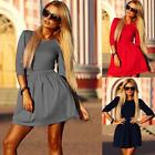 Sexy Women Summer Party Dress Evening Cocktail Casual Long Sleeve Mini Dress New