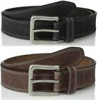 Timberland Mens 35Mm Boot Leather Jean Belt Casual Rugged Genuine Black & Brown