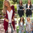 Women's Cardigan Loose Sweater Long Sleeve Knitted Cardigan Outwear Jacket Coat@