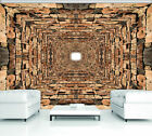 Photo Wallpaper 3D EFFECT ABSTRACT STONES WOOD  Wall Mural (2907VE)