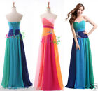 New Blue&Green Sweetheart Chiffon Formal Party Evening Dress Long Prom Dresses
