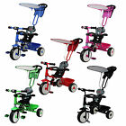 FoxHunter Kids Child Trike Tricycle 3 Wheel 4 In 1 Ride On Bike Parent Handle