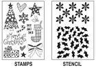 Dylusions Stocking Fillers Christmas Clear Stamp and Stencil Collection Set