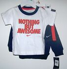 NWTS NIKE BOYS 3PC SET HOODIE, TEE, SHORTS 6-9 MONTHS SPRING EVERYDAY WEAR NEW